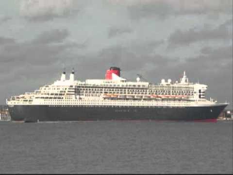 QM2 Final Southampton registry sailing