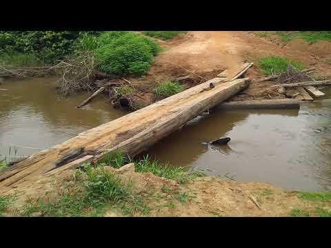 Queda da ponte acesso a vila Pacajá - Novo Repartimento/PA
