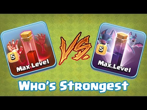 BAT SPELL VS SKELETON SPELL | WHO's STRONGEST | Clash Of Clans |