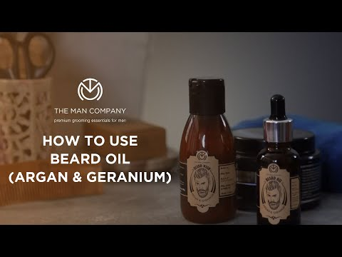 How To Use Beard Oil | The Man Company's Argan & Geranium Beard Oil | Beard Grooming Techniques