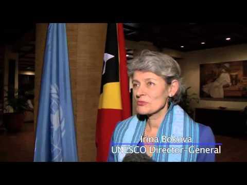 Irina Bokova Joins UN Chief for Global Education in Timor-Leste