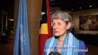 Irina Bokova Joins UN Chief for Global Education in Timor-Leste