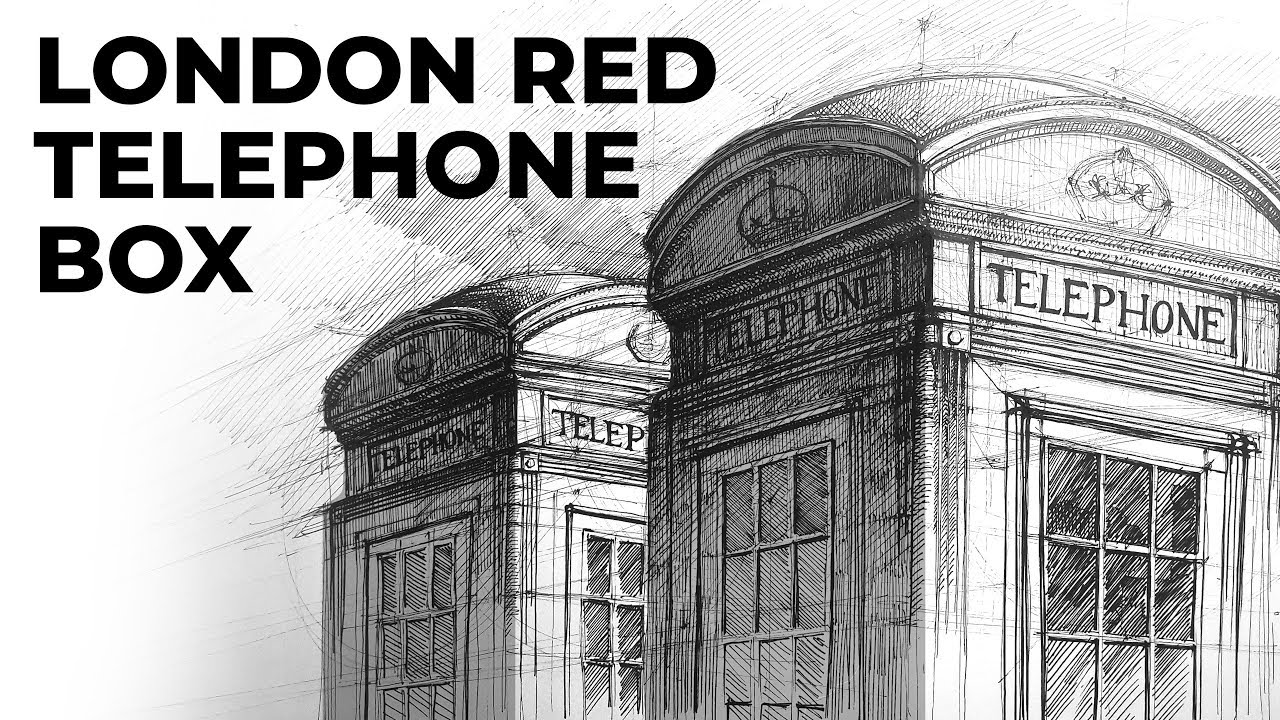 Drawing London Red Telephone Boxes
