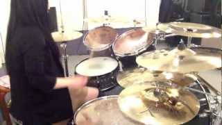 """Children Of Bodom """"Hate Crew Deathroll"""" Drumcover by Fumie Abe"""