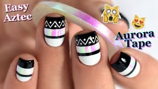 [ Nail Art ] Facile Noir et Blanc - Easy Black and White Nail Design TUTORIAL