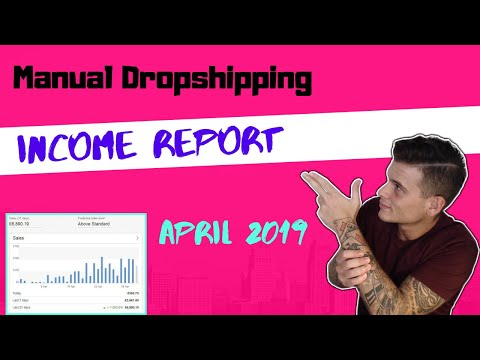 eBay Manual Dropshipping - Income Report April 2019 For my Brand New Store! thumbnail