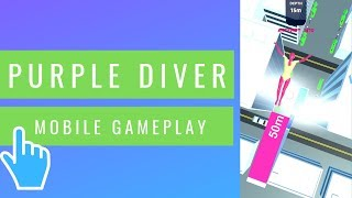 Purple Diver | iOS/Android Mobile Gameplay (2019)