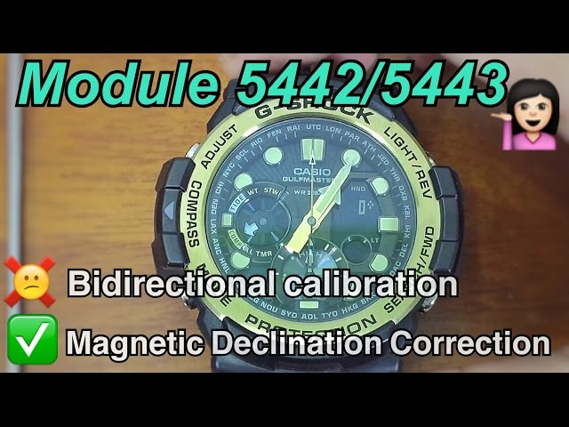 HOW TO SET-UP YOUR CASIO GN-1000 Master of G series GULFMASTER G-SHOCK | MODULE 5442/5443 TUTORIAL
