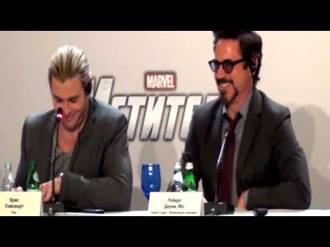 Press Conference The Avengers UK Russia Premiere