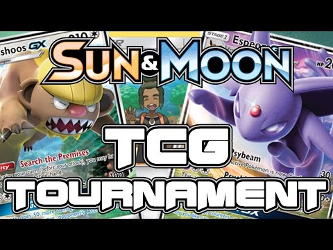 Pokemon Sun and Moon TRADING CARD GAME TOURNAMENT! with GameboyLuke, ScottishBrah, and m1ss beryl