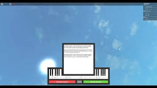Roblox Virtual Piano- Minuet in G Major