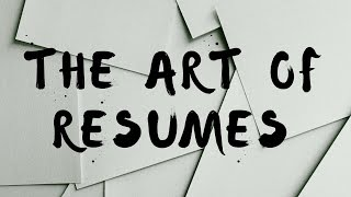 How To Write A Resume - The Art Of Resumes