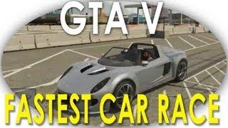 Fastest Car Coil (Tesla Roadster) vs Adder (Bugatti) Race (GTA 5)