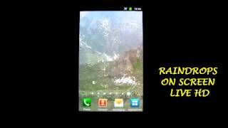 Raindrops on Screen Live HD