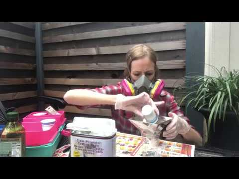 Part 6 - Polyester Resin Pour for 2 Pyramids - Orgonite Newbie Video Series
