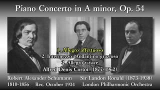Schumann: Piano Concerto, Cortot & Ronald (1934) シューマン ピアノ協奏曲 コルトー&ロナルド