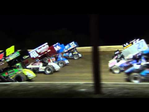 Port Royal Speedway All Star Sprint Car Highlights 9-13-15