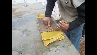 صنع اوراق شمع النحل