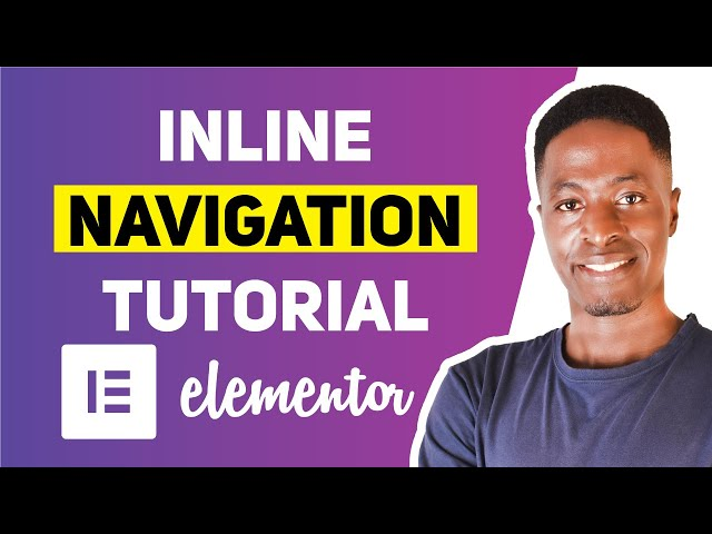 HOW TO CREATE AN INLINE NAVIGATION IN ELEMENTOR