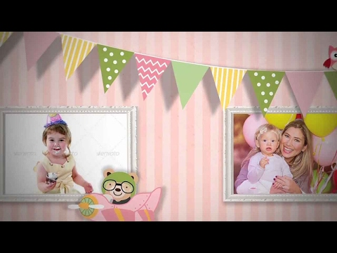 Como editar template infantil after effects Birth Announcement - Baby Photo Album