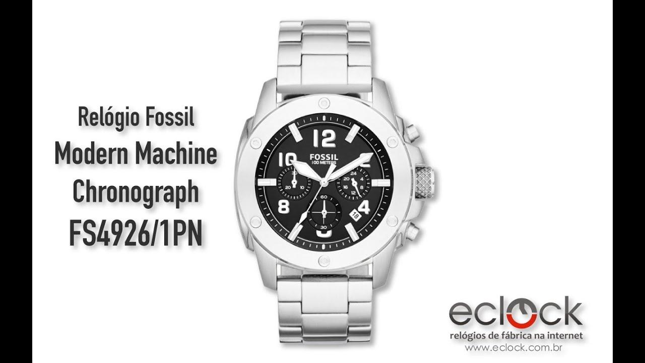 Relógio Fossil Masculino Modern Machine Chronograph FS4926 1PN - Eclock 0ef0d90eb0