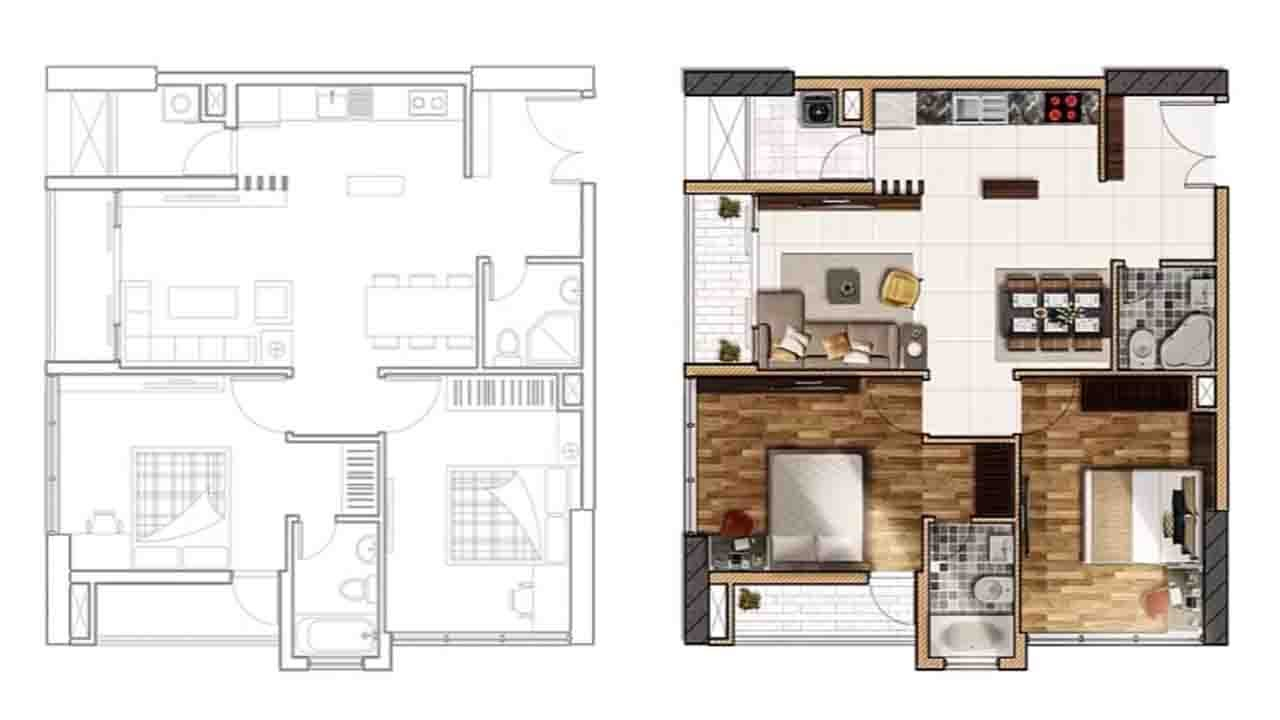 Master Bedroom Floorplans Architecture Plan Render By Photoshop Part 2 Youtube