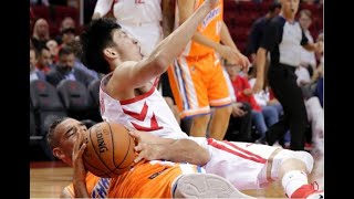 Rockets' Zhou Qi hurts knee in exhibition game vs. Shanghai