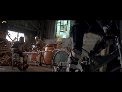 Turbo Kid 2015 720p Movie clip - Bloody Interrogation torture scene bycicle vs bowel