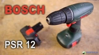 Обзор аккумуляторной дрели-шуруповерта Bosch PSR 12