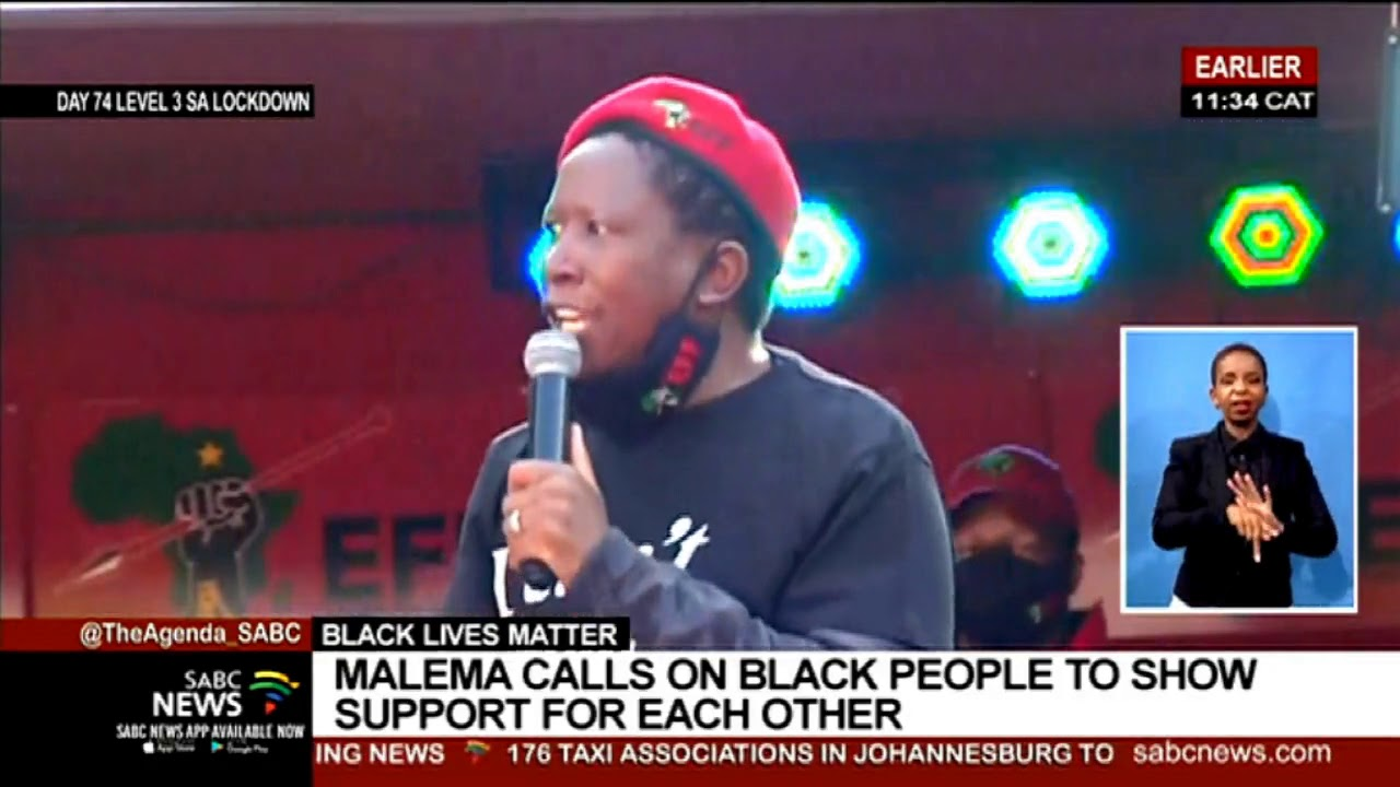 Black Lives Matter | Malema calls on black people to show support for each other