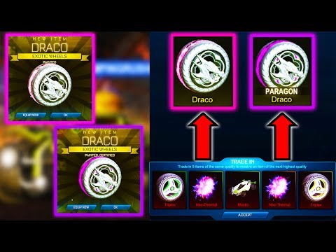BIGGEST 150 NITRO TRADE UP ON YOUTUBE!! ( 2 Painted Dracos in Rocket League )