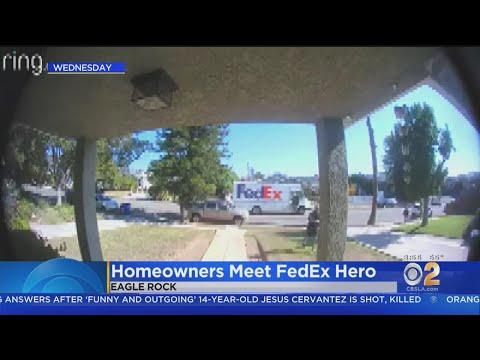 Homeowners Meet Mystery FedEx Hero