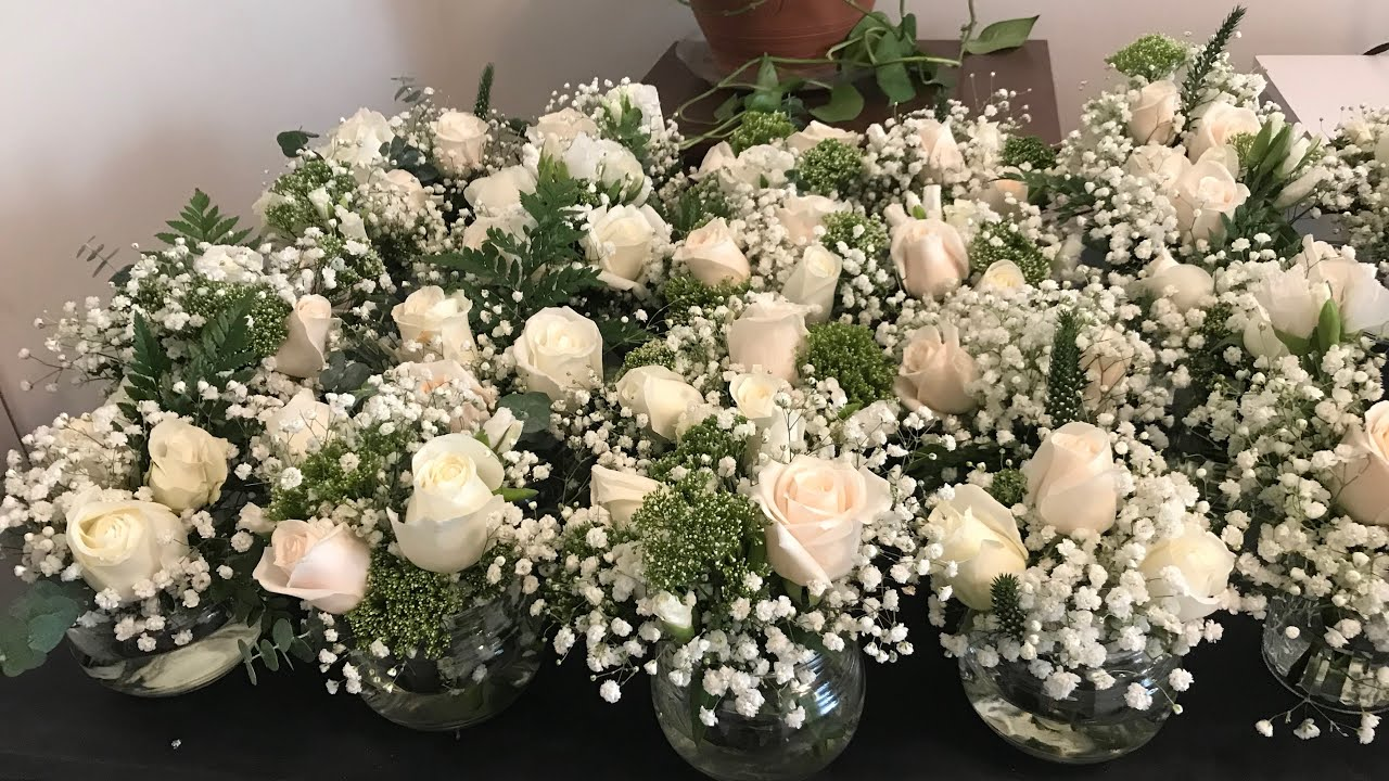 unboxing wholesale bulk flowers from costco for wedding