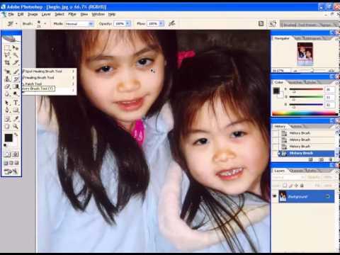 Photoshop CS2 - Phan 22 - Bai 10 - Khu mat do bang Photoshop