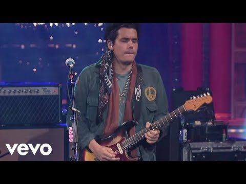 John Mayer  Slow Dancing In A Burning Room  on Letterman