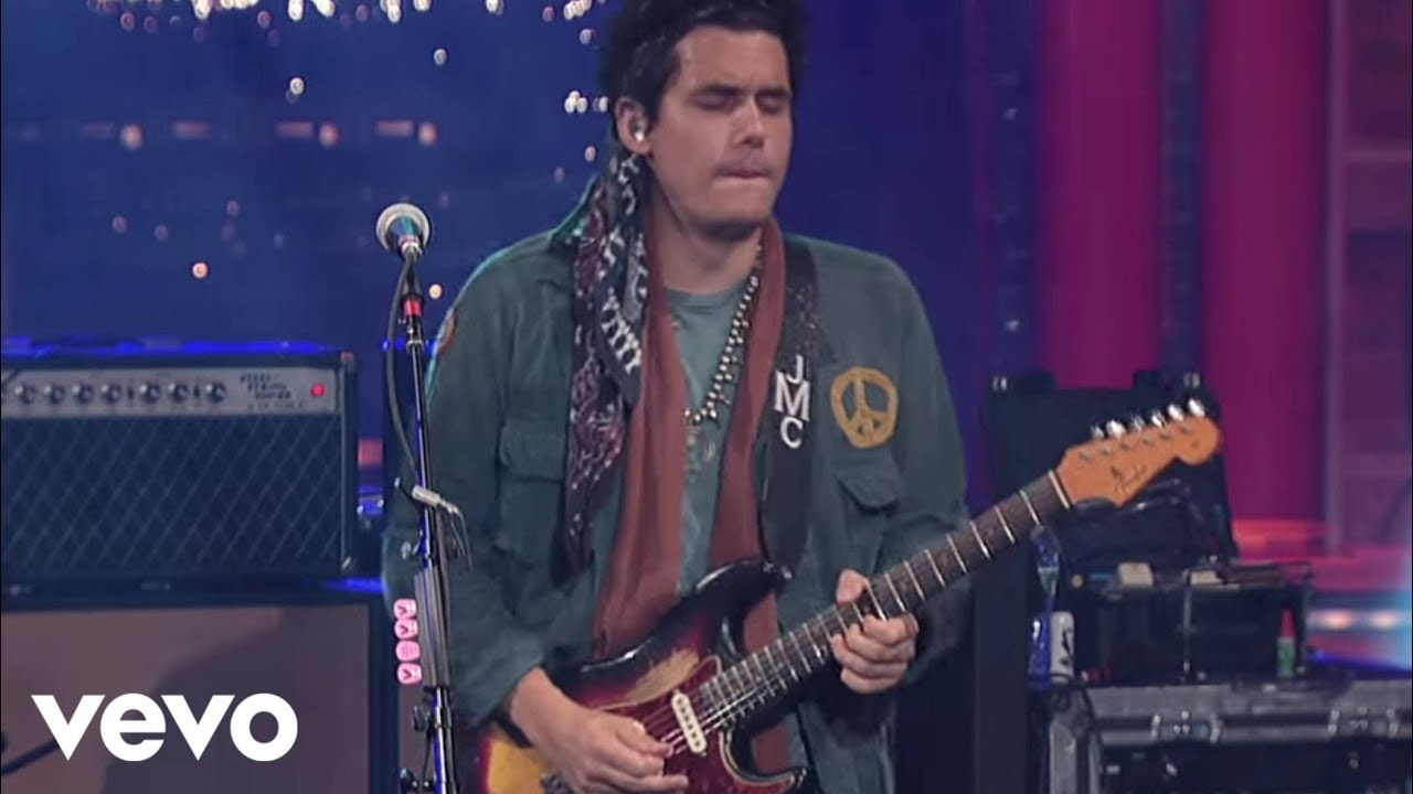 John Mayer  Slow Dancing In A Burning Room Live on Letterman  YouTube