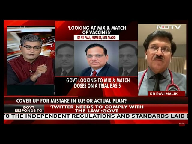 How immunity will be boost if Covid vaccination is mixed? Dr. Ravi Malik on NDTV INDIA 24×7