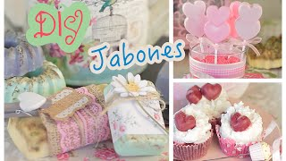 Hacer JABÓN 🍰 3 Ideas para DECORAR o REGALAR – DIY soap