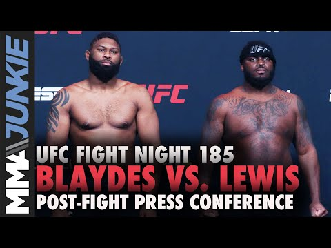 UFC Fight Night 185 post-fight press conference