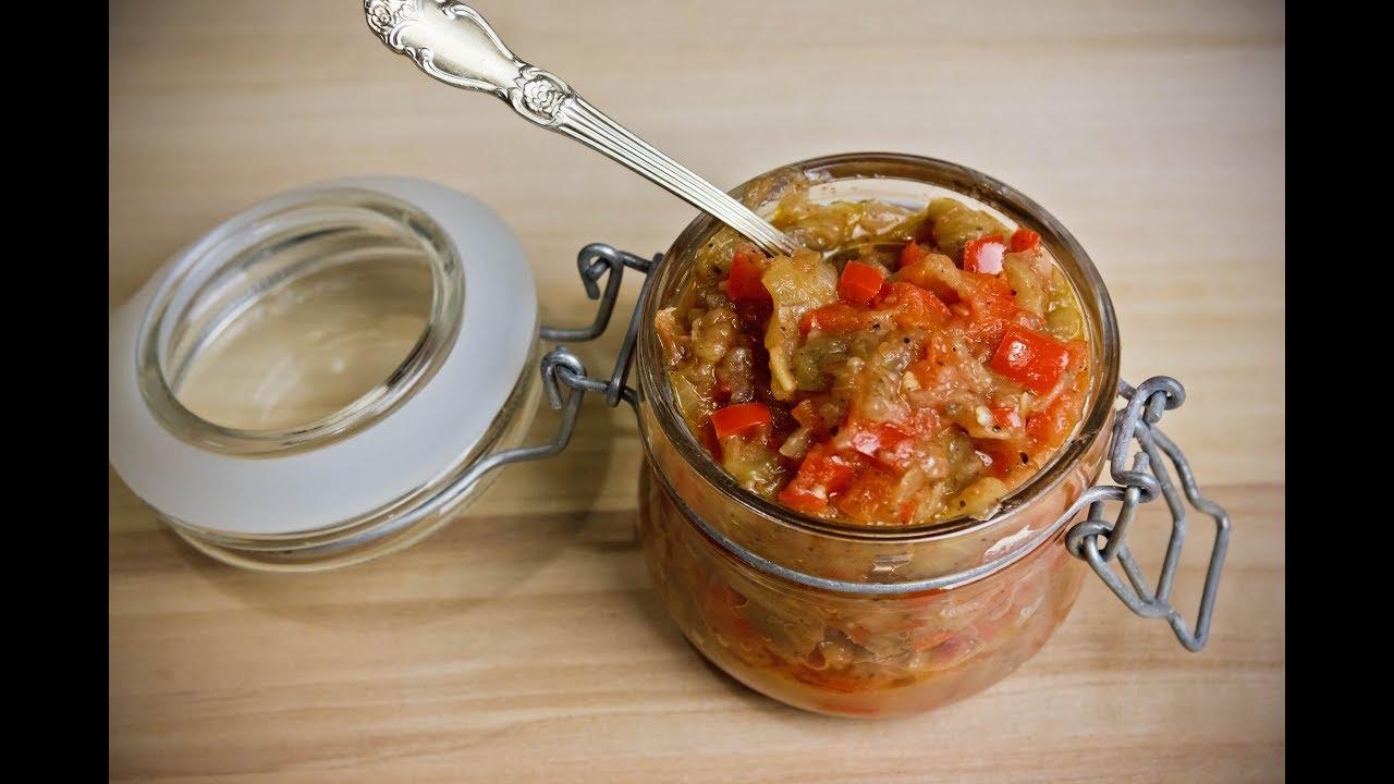 смотреть рецепт приготовления кабачковой и баклажанной икры от ганичкиной