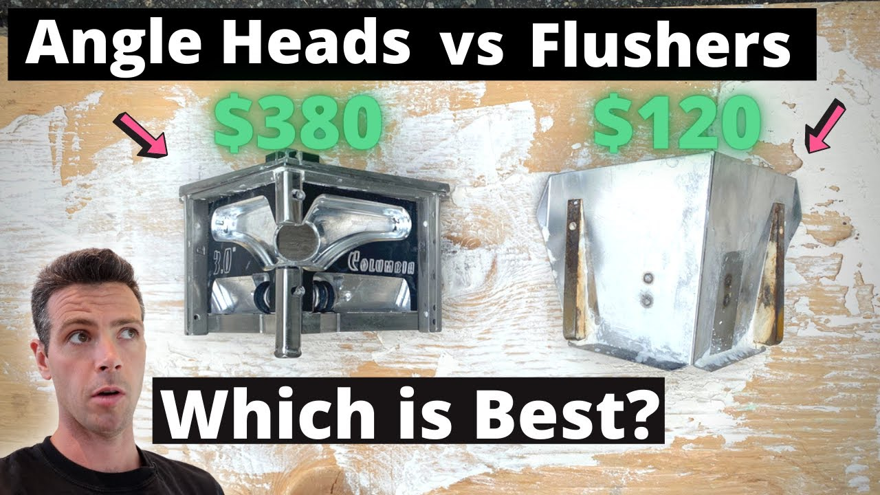 Angle heads vs Flushers! Which is BEST? Drywall Corners!