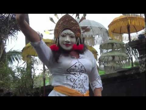 Bali: Trance Dancing in Bendul #1 (woman with white mask) by Hans & Fifi