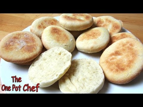 Home Made English Muffins | One Pot Chef
