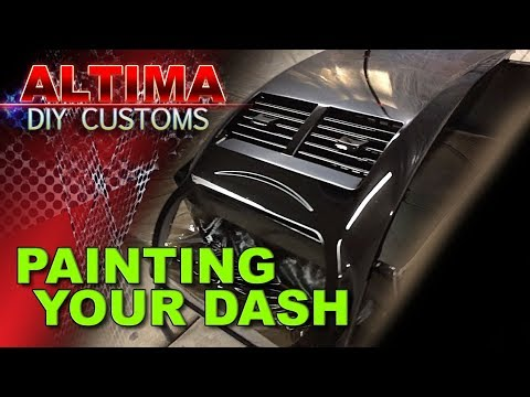 How To Paint Your Car Dash - Part 1