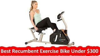 Best Recumbent Exercise Bike Under $300: Exerpeutic GOLD 975XBT