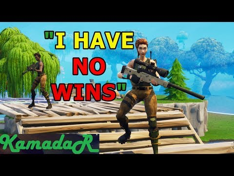 CARRYING A GIRL TO HER FIRST WIN! - KAMADAR FORTNITE VICTORY!