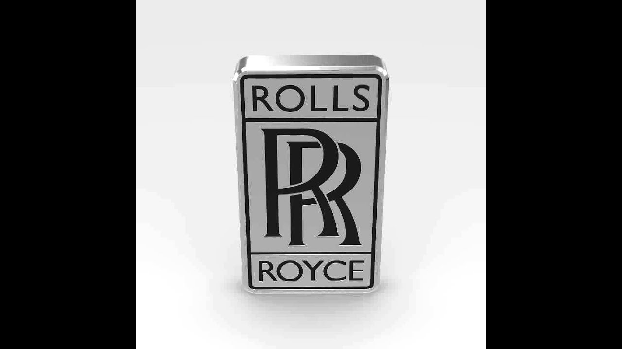 3d model of rolls royce logo review youtube. Black Bedroom Furniture Sets. Home Design Ideas