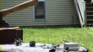Exploding Hard drive boards Part 3 (more sparks!!).wmv