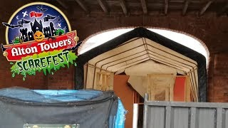 Alton Towers Scarefest Construction Vlog | The Attic, Darkest Depths and More!