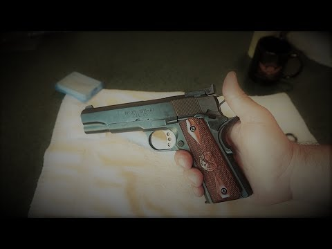 Springfield Armory Model 1911 Range Officer .45 ACP field strip and cleaning. (How to clean a 1911)